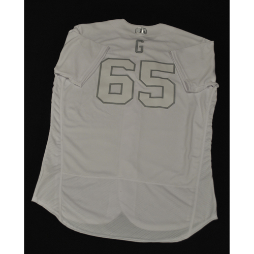 "Photo of Robert ""G"" Gsellman New York Mets Team-Issued 2019 Players' Weekend Jersey"