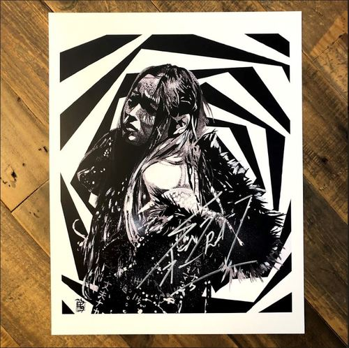 Io Shirai SIGNED 11 x 14 Rob Schamberger Print