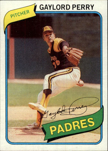 Photo of 1980 Topps #280 Gaylord Perry
