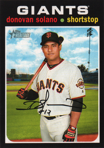 Photo of 2020 Topps Heritage #9 Donovan Solano
