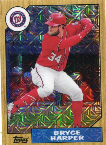 Photo of 2017 Topps '87 Topps Silver Pack Chrome #87BH Bryce Harper S2