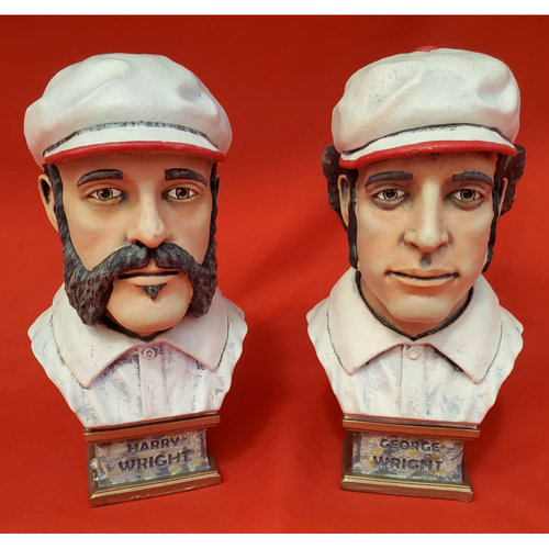 Photo of Harry Wright and George Wright Painted Busts