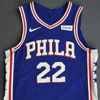 Matisse Thybulle - Philadelphia 76ers - Game-Worn Icon Edition Rookie Debut Jersey - Opening Night 2019-20 Season