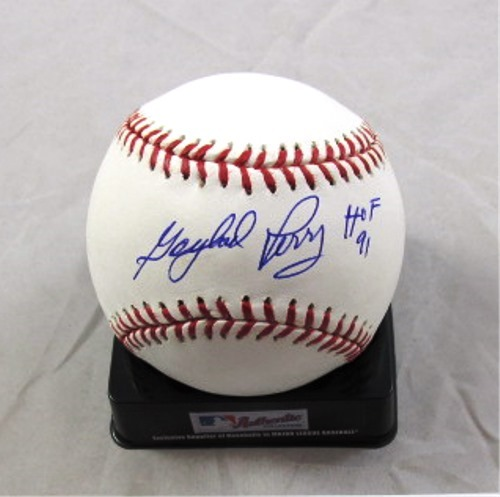 "Photo of Gaylord Perry Autographed ""HOF 91"" Baseball"