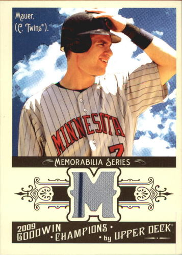 Photo of 2009 Upper Deck Goodwin Champions Memorabilia #JM Joe Mauer