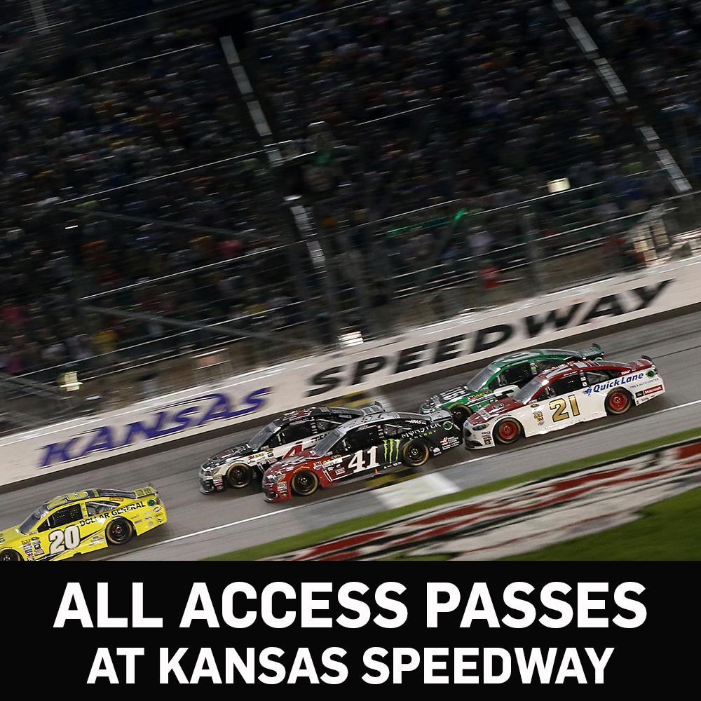 All Access NASCAR Garage Passes at Kansas Speedway!