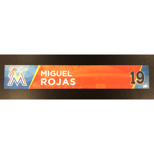 Miguel Rojas Game-Used Locker Tag