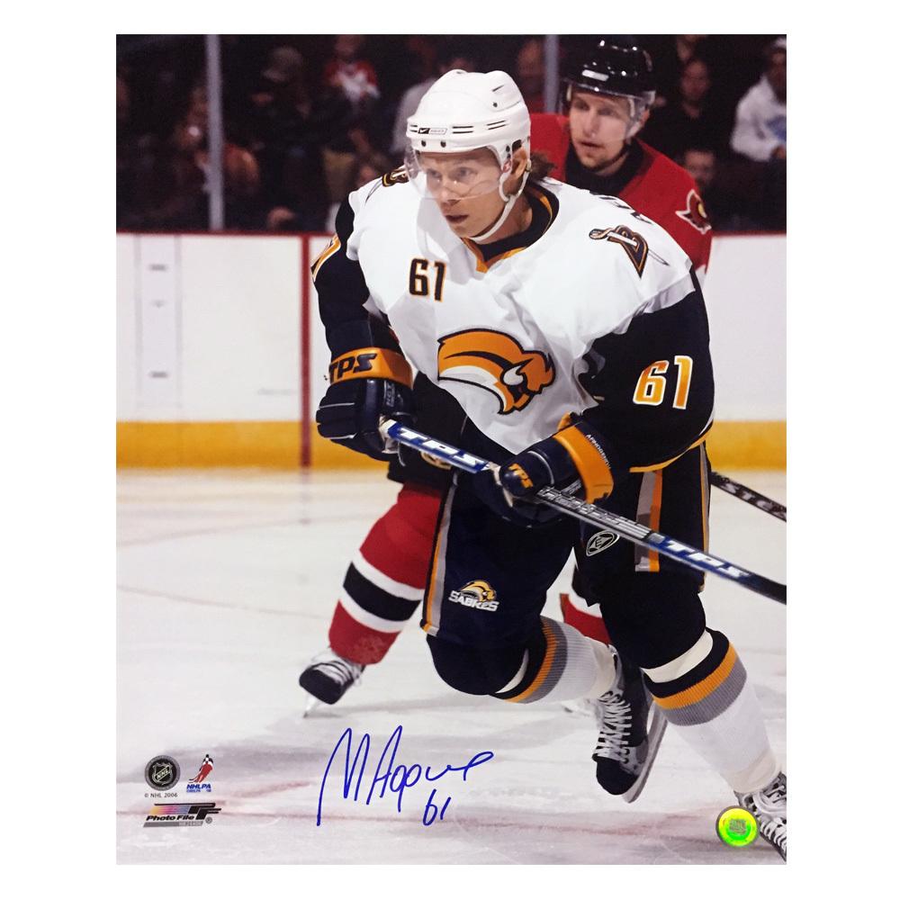 MAXIM AFINOGENOV Signed Buffalo Sabres 16 X 20 Photo - 79050