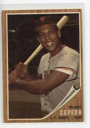 Photo of 1962 Topps #40 Orlando Cepeda-- Hall of Famer