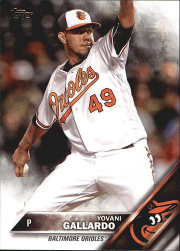 Photo of 2016 Topps Update #US184 Yovani Gallardo