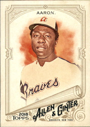 Photo of 2018 Topps Allen and Ginter #50 Hank Aaron