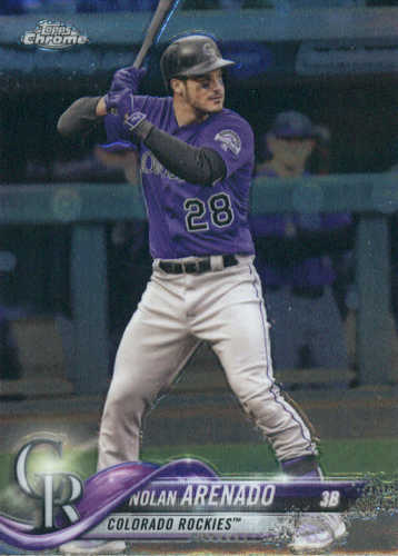 Photo of 2018 Topps Chrome #163 Nolan Arenado