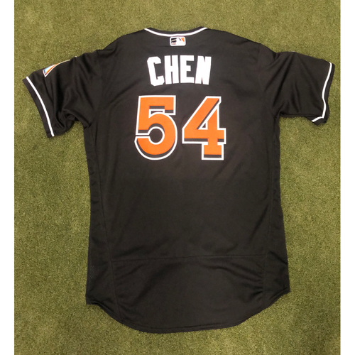 Photo of Game-Used Jersey: Wei-Yin Chen vs Phillies (September 14, 2018) - IP 4.0, 4 Strikeouts - Size 46