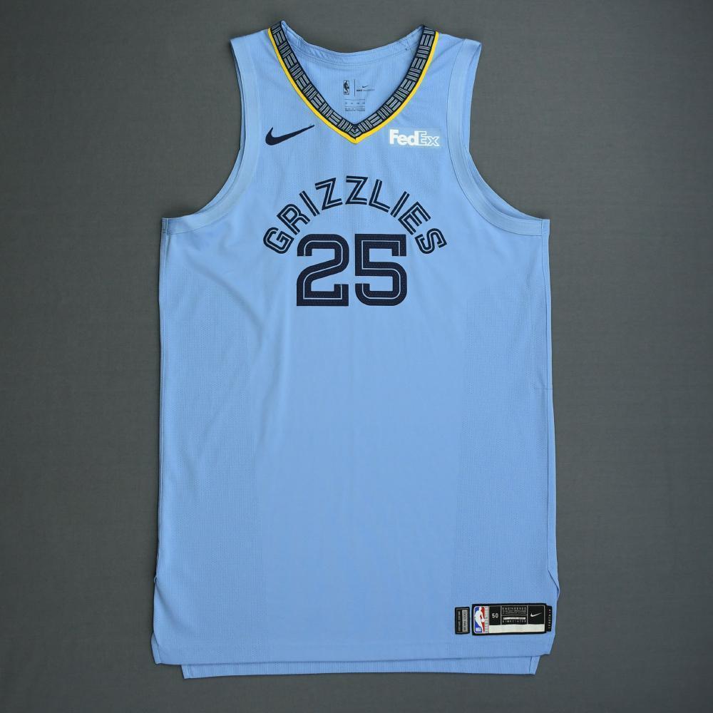 Chandler Parsons - Memphis Grizzlies - 2018-19 Season - Game-Worn Blue Statement Edition Jersey