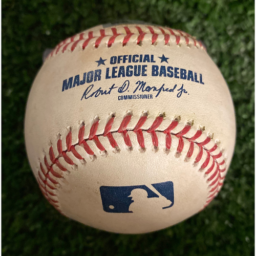 Photo of Pete Alonso Game Used Hit Single Baseball - August 13, 2019