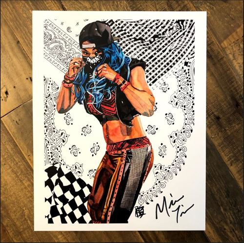 Photo of Mia Yim SIGNED 11 x 14 Rob Schamberger Print