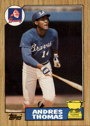Photo of 1987 Topps #296 Andres Thomas