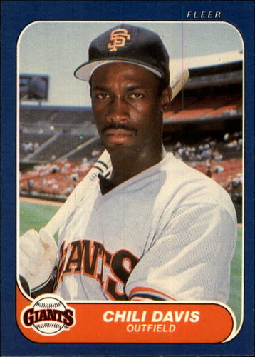 Photo of 1986 Fleer #536 Chili Davis