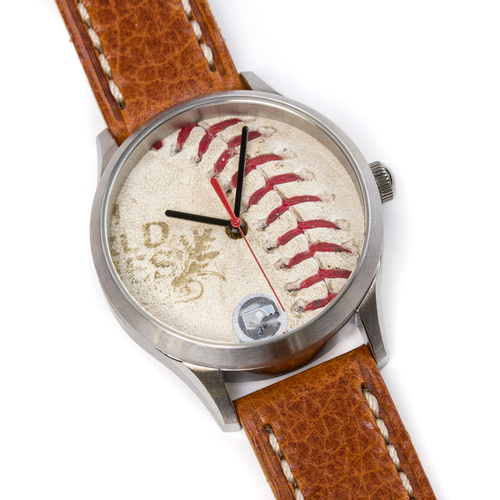Photo of Tokens & Icons St. Louis Cardinals 2011 World Series Game Used Baseball Watch W/ Marks - B Game 1