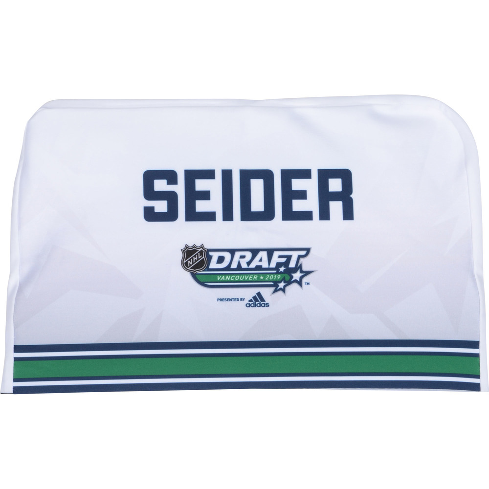 Moritz Seider Detroit Red Wings 2019 NHL Draft Seat Cover - Second set (Not Used)