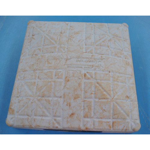 Photo of Game-Used Third Base - 2020 NLCS - Atlanta Braves vs. Los Angeles Dodgers - Game 2 - Used Innings 1-9