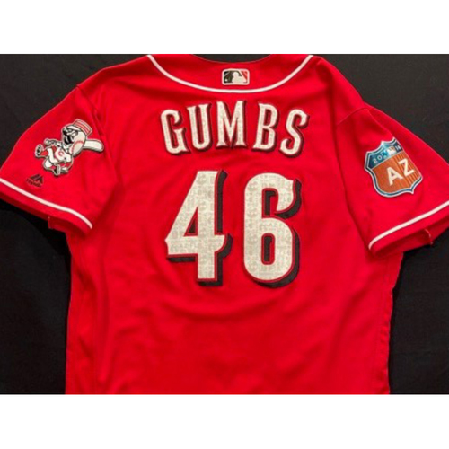 GUMBS -- Authentic Reds Jersey -- $1 Jersey Auction -- $5 Shipping -- Size 46 (Not MLB Authenticated)