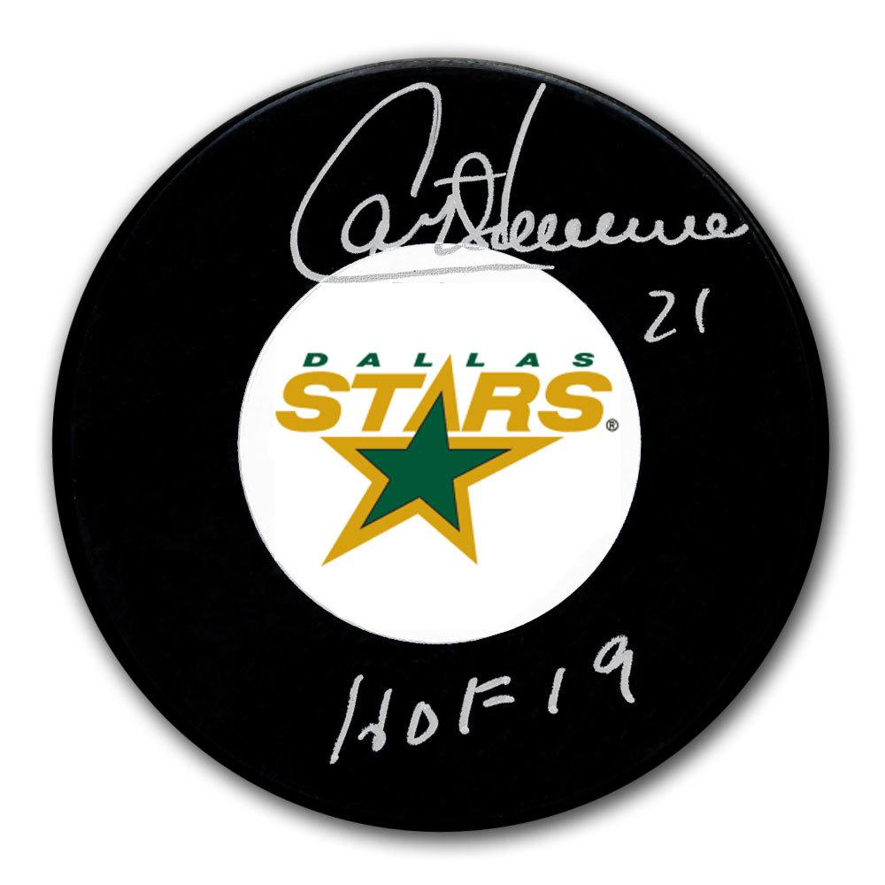 Guy Carbonneau Dallas Stars HOF Autographed Puck
