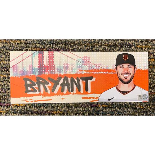 Photo of 2021 Game-Used Locker Tag - #23 Kris Bryant - 8/1/2021 - Giants Debut - Printed On Cardstock
