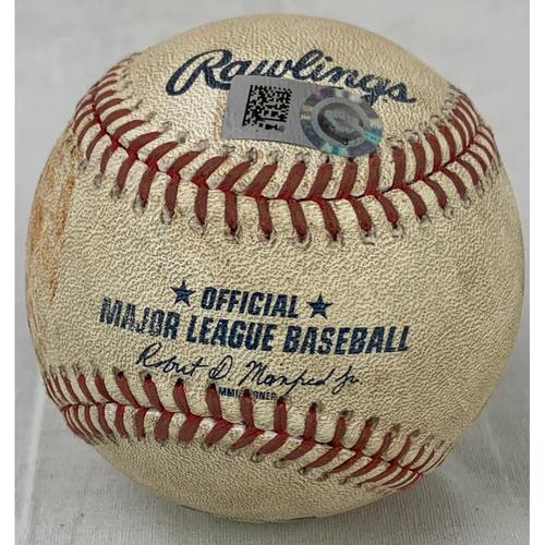 Photo of 2021 Game-Used Baseball - Pitcher: Jon Gray, Batter: Jose Altuve - Hit by Pitch- Bottom 5- 8/10/21