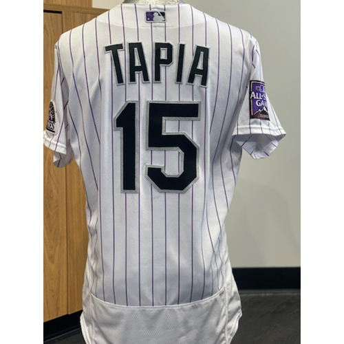 Photo of 2021 Game-Used Raimel Tapia Jersey - 6 Games, 13 Hits, 4 RBI's, 6 Doubles.
