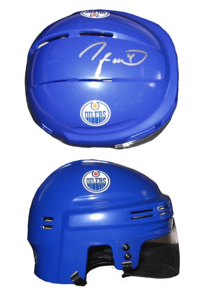 Taylor Hall - Signed Edmonton Oilers Mini Helmet