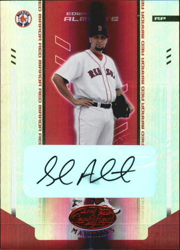 Photo of 2004 Leaf Certified Materials Mirror Autograph Red #56 Edwin Almonte/250