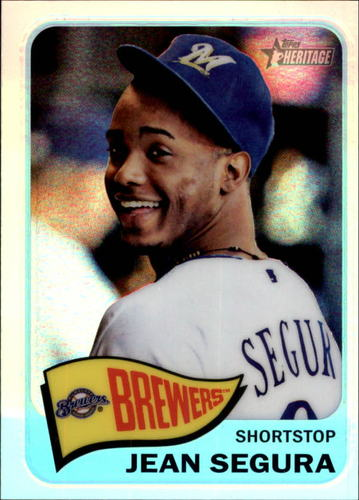 Photo of 2014 Topps Heritage Chrome Refractors #489 Jean Segura