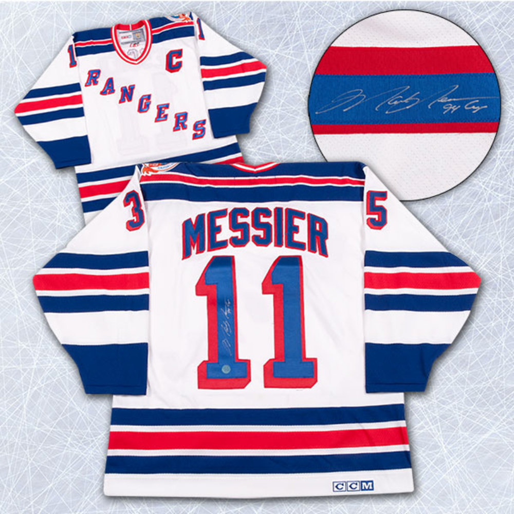Mark Messier New York Rangers Autographed Retro 1994 Stanley Cup CCM Jersey