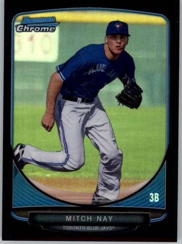 Photo of 2013 Bowman Chrome Prospects Black Refractors #BCP17 Mitch Nay