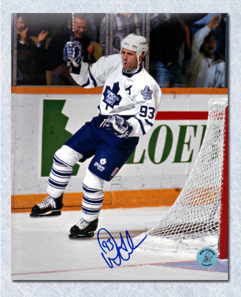 Doug Gilmour Toronto Maple Leafs Autographed Goal Celebration 8x10 Photo