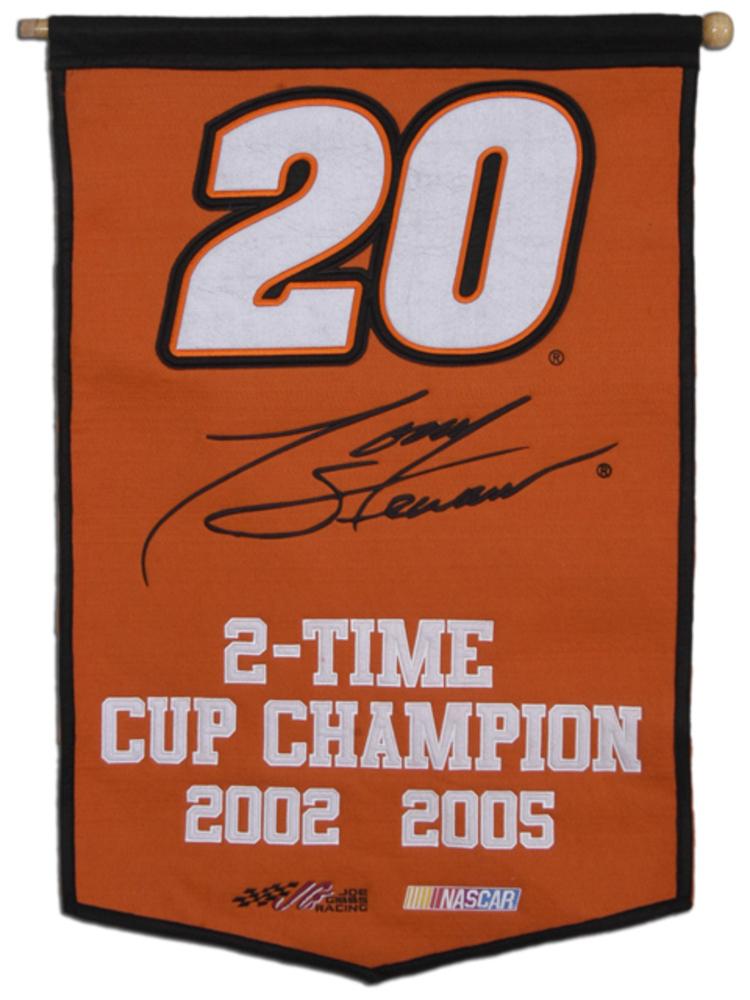 Tony Stewart Championships 24'' x 36'' Wool NASCAR Banner