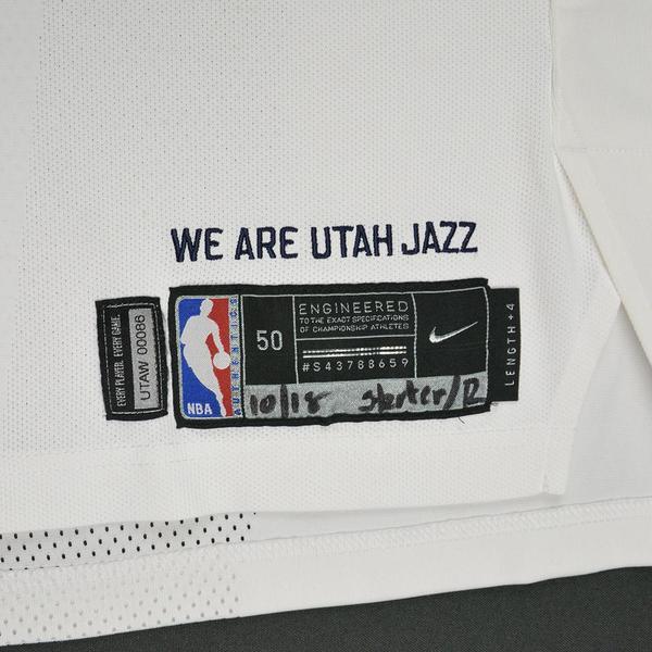 2ede7f17ad56 Donovan Mitchell - Utah Jazz - Kia NBA Tip-Off 2017 - Game-Worn NBA ...