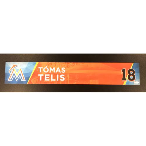 Tomas Telis Game-Used Locker Tag