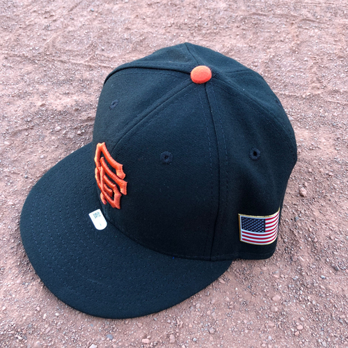 Photo of San Francisco Giants - 2017 Game-Used 9/11 Cap Worn by #50 Ty Blach - Size 7