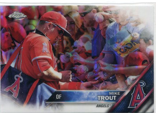 Photo of 2016 Topps Chrome #1B Mike Trout short print refractor