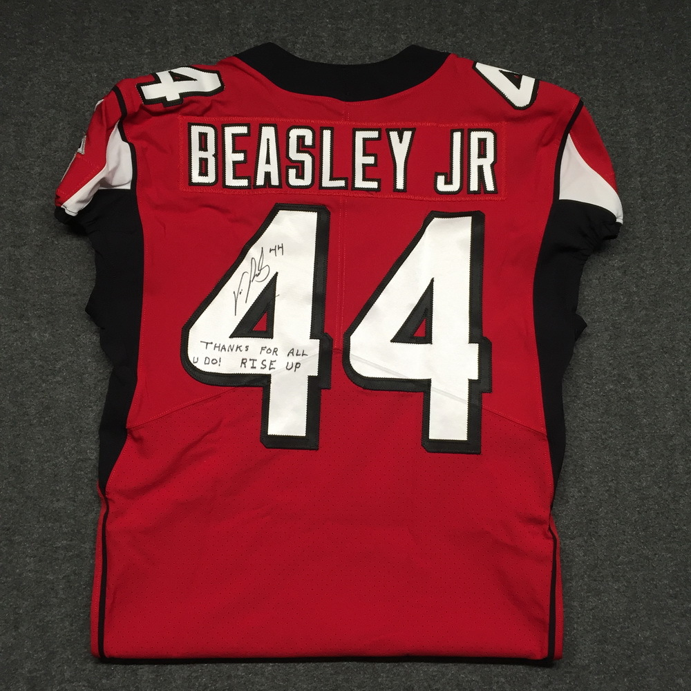 half off 3457b d429b NFL Auction | Crucial Catch - Falcons Vic Beasley signed and ...