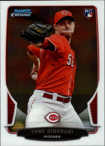 Photo of 2013 Bowman Chrome Draft #25 Tony Cingrani Rookie Card