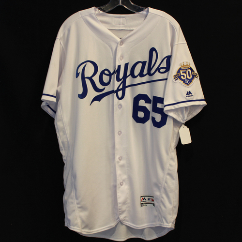 Photo of Game-Used Jersey: Jakob Junis (Size 46 - 9/29/18 - CLE @ KC)