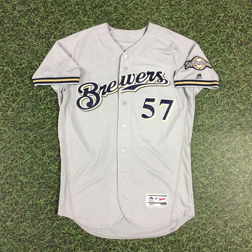 Photo of Chase Anderson 2018 Game-Used Opening Day Jersey - 6.0 IP, 1 H, 0 R, 6 SO - No Decision