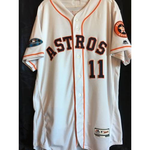 Photo of Evan Gattis 2018 Game-Used ALDS/ALCS Jersey