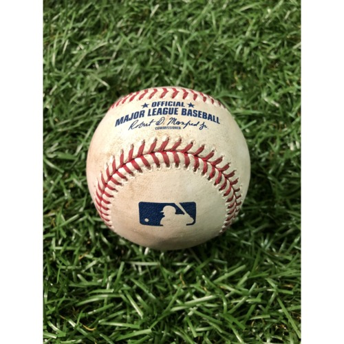 Photo of Opening Day Game-Used Baseball: Jalen Beeks strikes out Aledmys Diaz - March 28, 2019 v HOU