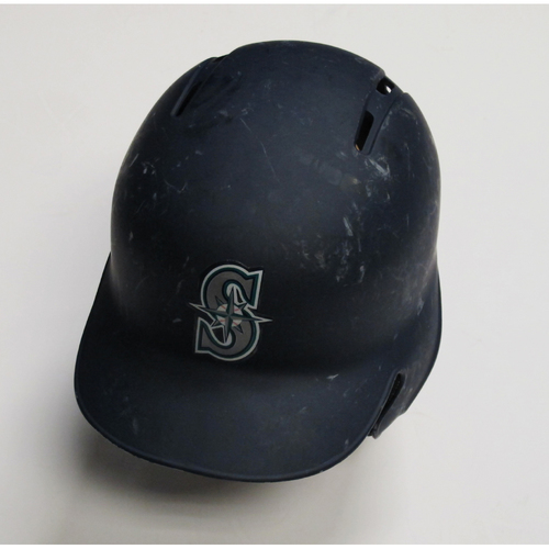 2018 Team-Issued Navy Batting Helmet: Felix Hernandez