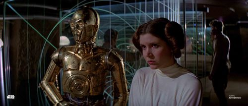 Princess Leia Organa and C-3PO