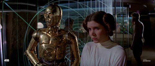 Princess Leia Organa and C-3PO